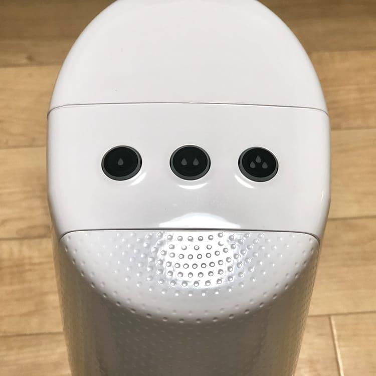 炭酸強度調整のボタン